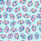 Seamless pattern with checkered ovals Royalty Free Stock Photo