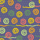 Seamless pattern with cheerful snakes Stock Image