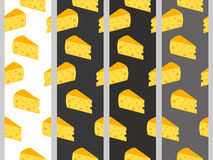 Seamless pattern with cheese. Cheese with holes. Set. Royalty Free Stock Images