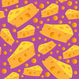 Seamless pattern with cheese and holes Stock Photo