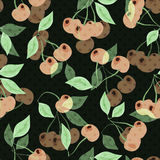 Seamless pattern with cherries Stock Photography