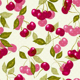 Seamless pattern with cherries Royalty Free Stock Photography