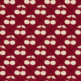 Seamless pattern with cherries Royalty Free Stock Photos