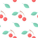 Seamless pattern with cherries Royalty Free Stock Image
