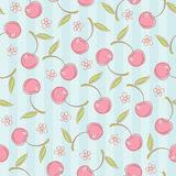 Seamless pattern with cherries Royalty Free Stock Photo
