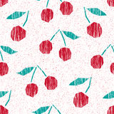 Seamless pattern with cherries. Vector illustration Royalty Free Stock Photos