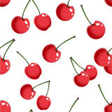 Seamless pattern with cherry Stock Images