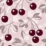 vector seamless pattern with cherry. Royalty Free Stock Photography