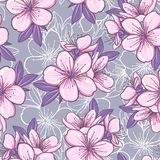 Seamless pattern with cherry blossom Royalty Free Stock Photo