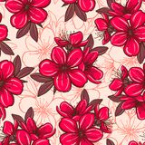 Seamless pattern with cherry blossom Stock Image