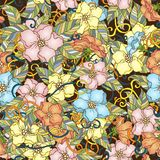 Seamless pattern with cherry blossom flowers. Royalty Free Stock Photography