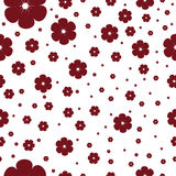 Seamless pattern with cherry blossom Stock Photos