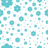 Seamless pattern with cherry blossom Royalty Free Stock Photos