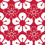 Seamless pattern with cherry blossoms Stock Image