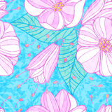 Seamless pattern with cherry blossoms. Royalty Free Stock Photos