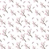Seamless pattern with cherry blossoms. stock illustration