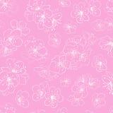 Seamless pattern of cherry blossoms Stock Photo