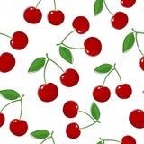Seamless Pattern of Cherry. Fruit Pattern, Prunus Avium,Wild Cherry, Sweet Cherry, Bird Cherry or Gean, Vector Illustration vector illustration