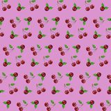 Seamless pattern cherry on pink background vector illustration for web design or ads royalty free illustration