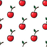 Seamless Pattern with Cherry Stock Photos