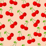 Seamless pattern with cherry Stock Photo