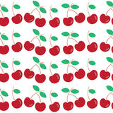 Seamless pattern of cherry Stock Images
