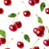 Seamless pattern with cherry Royalty Free Stock Photos