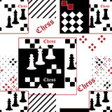Seamless pattern with chess Royalty Free Stock Image