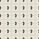 Seamless pattern of chess knights Stock Photography