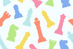 Seamless pattern with chess pieces Royalty Free Illustration