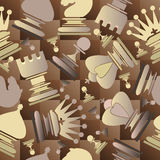 Seamless pattern with chess pieces. Royalty Free Stock Images