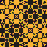 Seamless pattern Chessboard. Abstract background of a chessboard. Seamless pattern, vector illustration Stock Photos