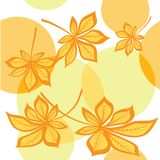 Seamless pattern with chestnut leaves Stock Images