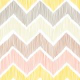 Seamless pattern. Chevron, a zigzag ornament. White, yellow, pin royalty free illustration