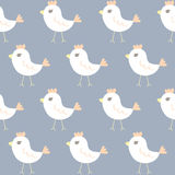 Seamless Pattern Of Chicken Cartoon Stock Photo