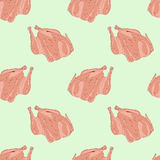Seamless pattern chicken Stock Images