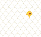 Seamless pattern with the chicken and eggs Royalty Free Stock Photography