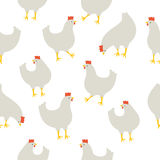Seamless pattern with chicken. An illustration for your creativity. This is seamless pattern. Good choice for pattern of textile, gift paper, print of notebook Royalty Free Stock Image