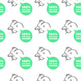 Seamless Pattern with chicken Royalty Free Stock Photography