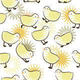 Seamless pattern with chicks Royalty Free Stock Photography