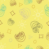Seamless pattern with child pictures. Royalty Free Stock Photography
