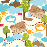 Seamless pattern for childish adventure Royalty Free Stock Images