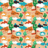 Seamless pattern for childish adventure stock photos