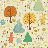 Seamless pattern  in childish cartoon style Royalty Free Stock Photos