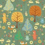 Seamless pattern  in childish cartoon style Royalty Free Stock Image