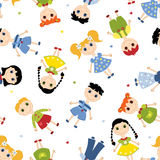 Seamless pattern children. Royalty Free Stock Image