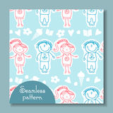 Seamless pattern with of children Stock Photography