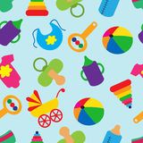Seamless pattern with children's accessories Stock Photo