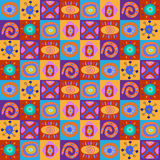 Seamless pattern with children's African ornament Stock Photography