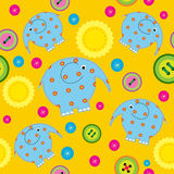 Seamless pattern with childrens applications Stock Photography